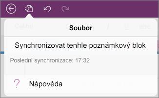 Tlačítko nabídky Soubor