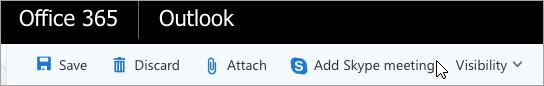 Přidání schůzky ve Skypu do e-mailu