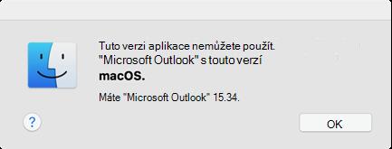 Chyba: Tuto verzi aplikace nemůžete používat.