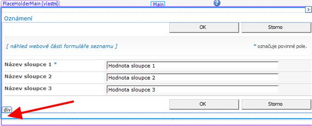 Formuláře aplikace SharePoint Designer