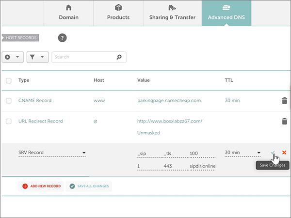 Namecheap – doporučených postupů – konfigurace 5-3