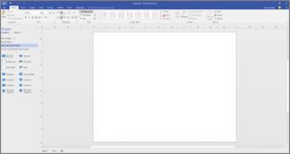 Prázdná stránka pro kreslení vývojového diagramu