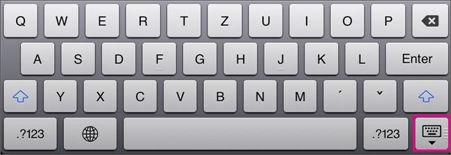 Skrytí klávesnice na obrazovce