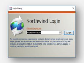 Stažení šablony databáze Northwind