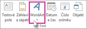 Kliknutím přidejte WordArt.