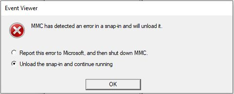 Event Viewer Error