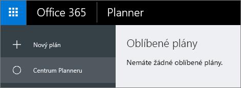V plánování zvolte nový plán.