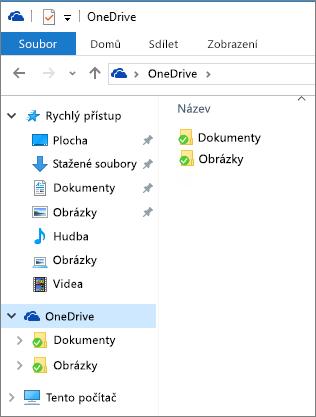 OneDrive v Průzkumníkovi souborů