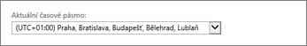 Nastavení časového pásma v Outlook Web Appu