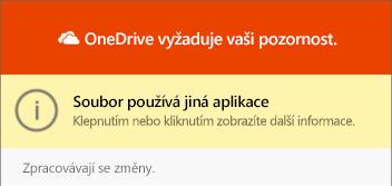 Dialogové okno pro použití souboru OneDrivu