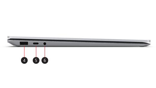 Boční strana zařízení Surface Laptop 3