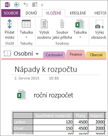 Vložení obrázku tabulky na stránku
