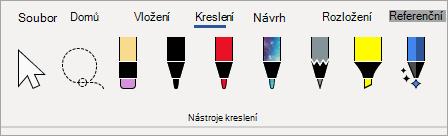 Microsoft 365 Pera Nástroje kreslení