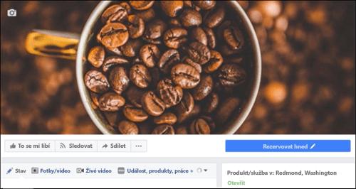 Ikona Microsoft Bookings po připojení k Facebooku stránky.