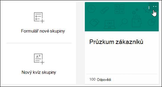 Další možnosti výběru ve formuláři v Microsoft Forms