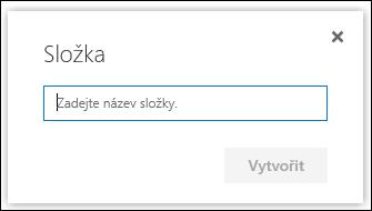 Název nové složky knihovny dokumentů