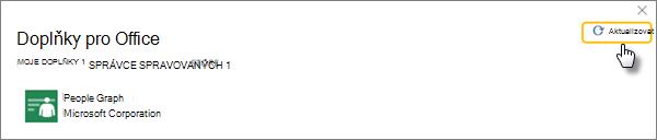 V Moje doplňky přejděte na spravovat správce a vyberte aktualizovat, pokud vaše doplněk není k dispozici.