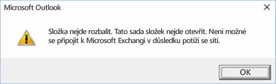 Chyba Outlooku 2016 – nejde rozbalit složku.