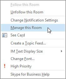 Spravovat tuto místnost