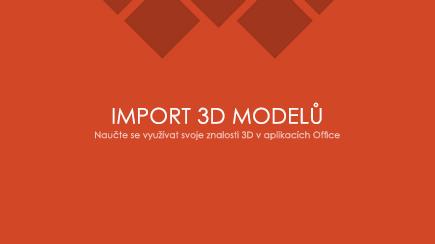 Snímek obrazovky s úvodním snímkem 3D šablony pro PowerPoint