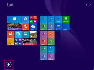Klikněte na šipku v levé dolní části obrazovky.