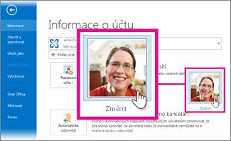Změna vlastního obrázku pro Office z Outlooku