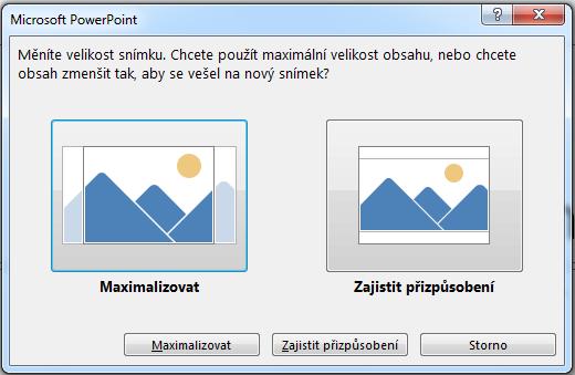 Pokud zvolíte maximalizaci, může určitý obsah spadat mimo tiskové okraje, jak je vidět na obrázku vlevo.