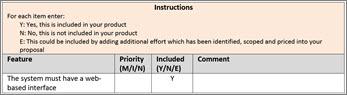 Fragment výběru funkce tabulky
