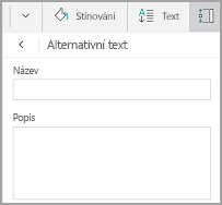 Windows Mobile tabulky alternativní text