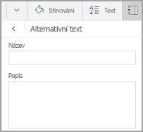 Alternativní text v tabulce Windows Mobile