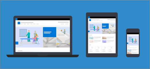 Příklady stránek na různých zařízeních