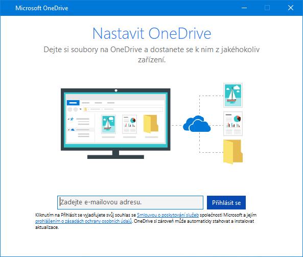 Nové uživatelské rozhraní obrazovky pro nastavení OneDrivu