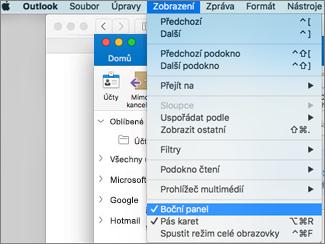 Vyberte Zobrazení > Boční panel, abyste zobrazili seznam složek.