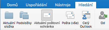 Prohledání aktuální poštovní schránky