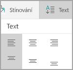 Zarovnání textu tabulky Windows Mobile