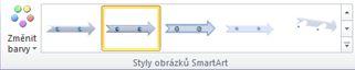 Skupina styly obrázků SmartArt na kartě Návrh v části Nástroje obrázku SmartArt