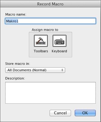 Příkaz Záznam makra ve skupině Kód na kartě Vývojář