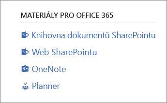 Materiály pro Office 365