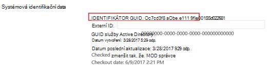 Vyhledání uživatele pole číslo ID zdroje