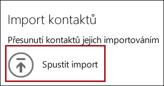 Spustit import