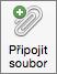 Tlačítko Připojit soubor