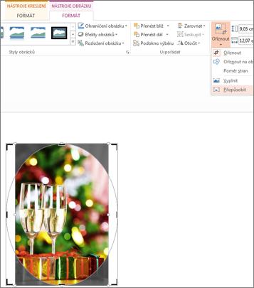 Oříznutí obrázku pro umístění do obrazce pomocí funkce Přizpůsobit