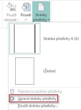 Úprava stránek předlohy v Publisheru 2013