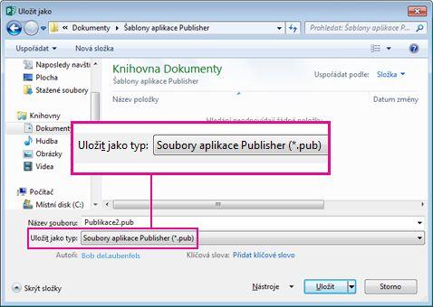 Uložte svou publikaci jako šablonu pro opakované použití.