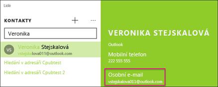 Kontakt musí mít platnou e-mailovou adresu.