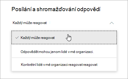 Možnosti sdílení pro Microsoft Forms