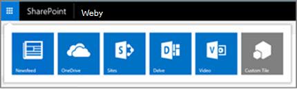 Spouštěč aplikací hybridní na serveru SharePoint Server