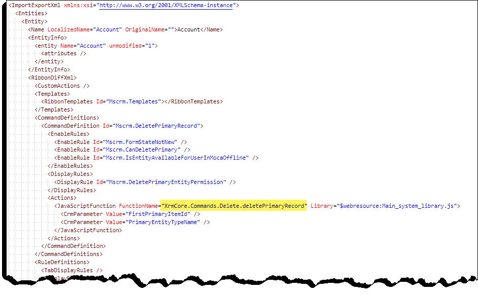 Kontrola příkazů – příkaz-neprovede žádnou akci – kód XML.