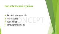 Příklad textového vodoznaku DRAFT (Koncept) použitého jako pozadí snímku v PowerPointu