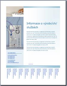 Oznámení (měkké modrý design) šablony na webu Office Online